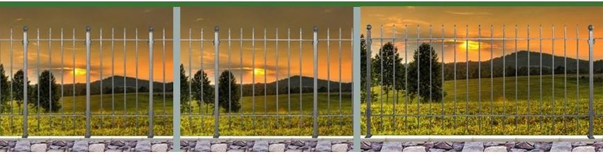 Clôtures de qualité, prêts à poser, hauteur 1,00m, 3 niveaux de finition