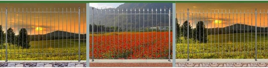 Clôtures de qualité, prêtes à poser, hauteur 1,50m, 3 niveaux de finition