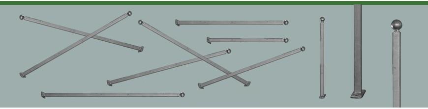 Poteaux à fixer sur des murets, plusieurs hauteurs, 3 niveaux de finitions