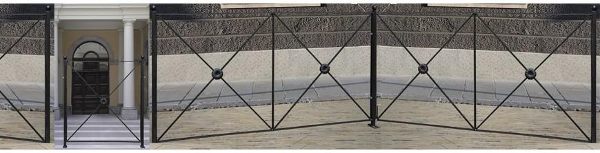 Barrières urbaines CITY simple ou doubles laquées cuits au four.