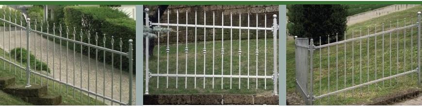 Clôtures hauteur 100cm pour terrains en pente prêtes à poser galvanisées