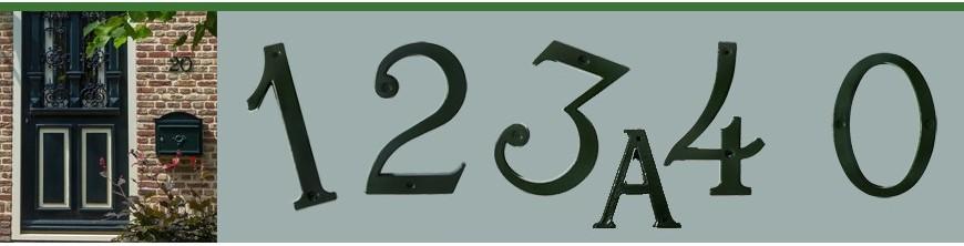 Chiffres lettres de rues en fonte d'aluminium 12cm fabriqués en Europe