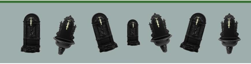 Fontaines sur pied ou murale en fonte d'aluminium très décoratives