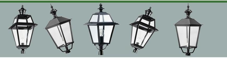 Luminaires extérieurs carrés seuls copies d'anciens en fonte d'aluminium