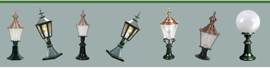 Luminaires extérieurs sur pied en fonte d'aluminium copies d'anciens