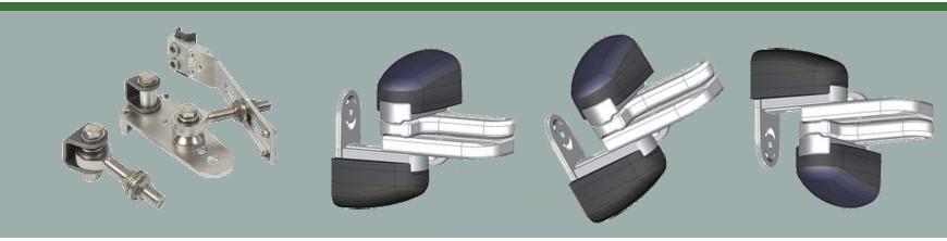 Gonds régulateur de pente pour vantaux de portails ou portillons