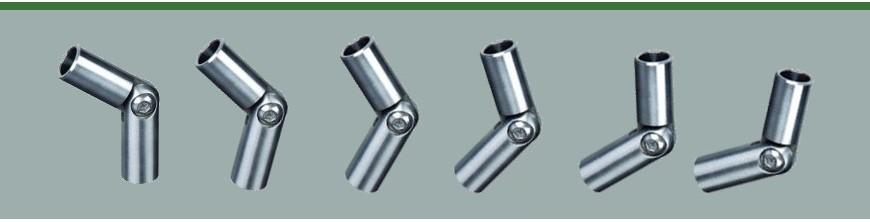 Raccords orientables pour ronds Ø10, Ø12 ou Ø14mm en acier inoxydable 304 ou 316