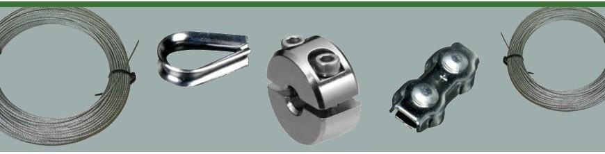 Câbles inox 316 et anneaux