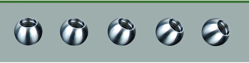 Boules embouts pour rond inox
