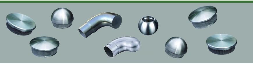 Bouchons plats en acier inoxydable pour extrémités  de main courantes