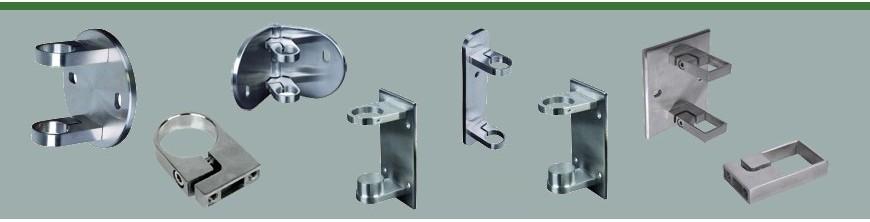 Ces anneaux de serrage pour tubes Ø42,4mm et Ø48,3mm sont en acier inoxydable AISI304 et AISI316...