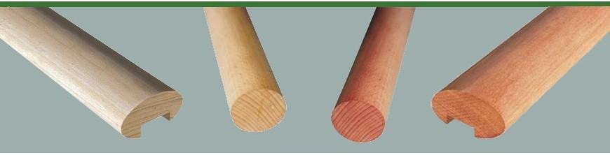Mains courantes en sapelli pour les extérieurs ou en hêtre pour les intérieurs…