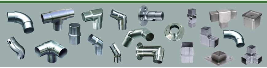 Ces connecteurs permettent d'assembler entre eux des tubes ronds Ø42,4mm ou Ø48,3mm coudes, tés, unions...