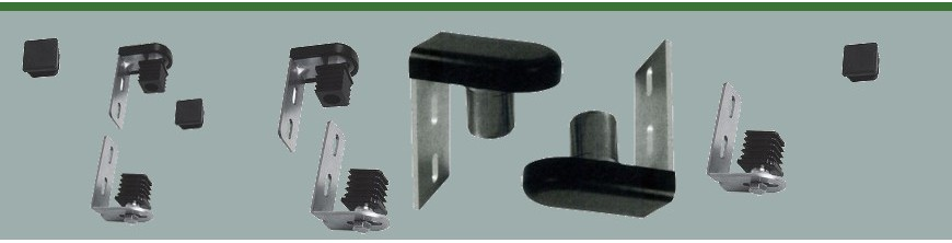 Ensemble de gonds et pivots à fixation par nylon pour tubes