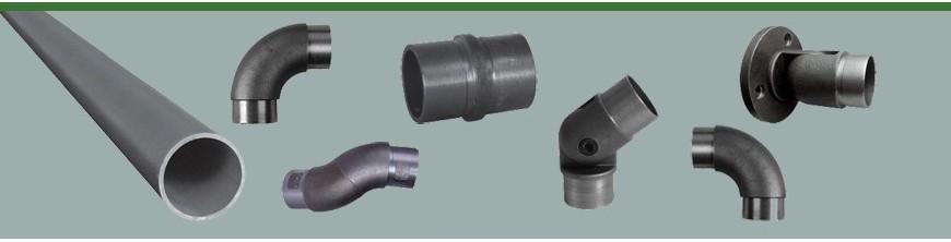Main courante et accessoires en acier rond ø42,4mm + raccords