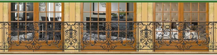 Garde-corps en fonte ductile de balcons ou portes fenêtres prêt à sceller