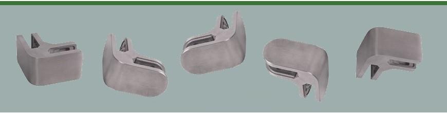 Pinces à verre d'angle pour tenir ensemble deux plaques de verre feuilleté