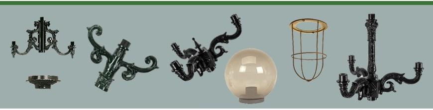 Pièces détachées tous types et tous styles pour luminaires extérieurs