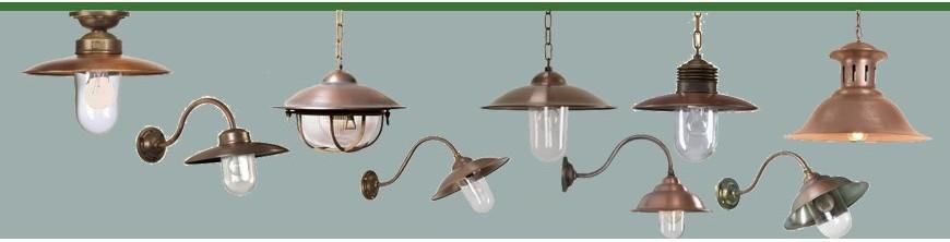 Luminaires en bronze contemporains sur poteau plafonniers ou applique