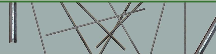 Balustres droits en acier.